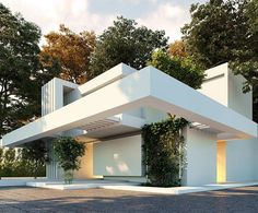 via heavywait - modern design architecture interior design home decor & Modern Architecture Design, Minimalist Architecture, Facade Design, Beautiful Architecture, Residential Architecture, Modern House Design, Exterior Design, Interior Architecture, Unique Buildings