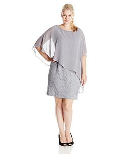 Jessica Howard Women's Plus-Size Asymmetrical Capelet Dress, Silver, 18W Jessica Howard http://www.amazon.com/dp/B00XF74F42/ref=cm_sw_r_pi_dp_gvZ0wb0C6VHCZ