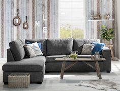 Hoekbank Boris geeft een stoere look aan je woonkamer en is te combineren met verschillende kussens, woonaccessoires en landelijke salontafel #inspiratie #bank