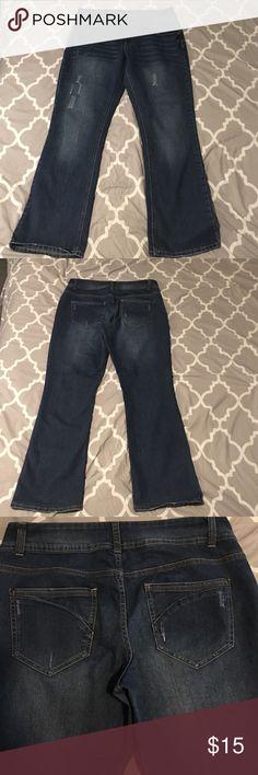 MASSINI flare leg jeans sz 14 Massini flare leg jeans, double button waist, great condition, smoke free home, size 14 Massini Jeans Flare & Wide Leg