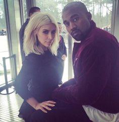 Kim & Kanye at the Louis Vuitton fashion show, Paris Fashion Week - March 11, 2015