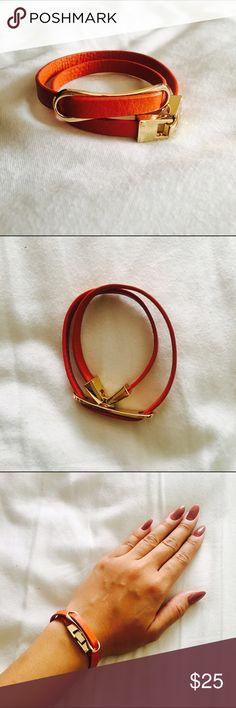 Orange Faux Leather Necklace/Bracelet Orange Faux Leather Necklace/Bracelet   Instagram: @Lina.Chen BCBGMaxAzria Jewelry