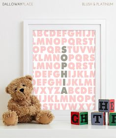 Baby Girl Nursery Decor Girls Nursery Art Baby by DallowayPlace