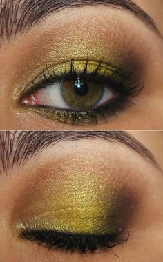 Totally loving yellow eye shadow, never would have thought of it until seeing it!
