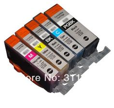5Pcs PGI 525 CLI 526 Ink Cartridge for Canon PIXMA IP4850 IP4950 IX6550 MG5150 MG5250 MG6250 MG8250 MX715 MX885 MX895 PGI525