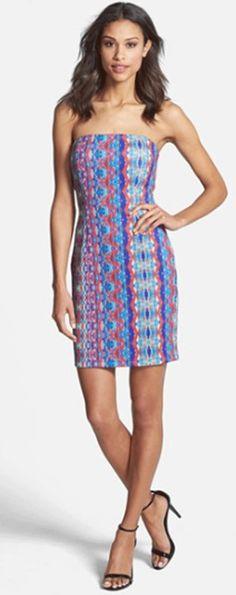 Charlie Jade Athea Strapless Print Dress at Thera M.