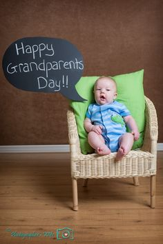 Happy Grandparents Day - using our DIY word bubble chalkboard!