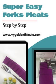 Learn how to do pleats with a fork very easy and quick with this video tutorial. I will teach you how to sew step by step pleats using a fork and a couple of interesting tricks you won't find elsewhere.