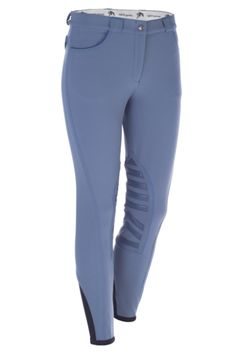The Rebecca Grip breeches feature Sarm Hippique's coveted Grip System knee patches, thus marrying high performance technology with elegant Italian riding fashion. Sarm Hippique's unparalleled craftsmanship and design make the Rebecca Breeches extremely durable. Available in many colors, suitable for home or the show ring. Stitching and piping are available tone-on-tone and in contrast. http://www.galleriamorusso.com/product/sarm-hippique-rebecca-breeches-grip-system/
