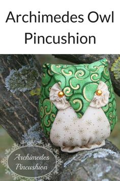 This adorable little owl pincushion has been a hit ever since I introduced him. Finishing at just 2.5