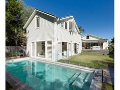 cabana onto pool Coastal Homes, Coastal Living, Coastal Interior, Beach Homes, Indoor Outdoor, Outdoor Living, Outdoor Spaces, Outdoor Ideas, Outdoor Life
