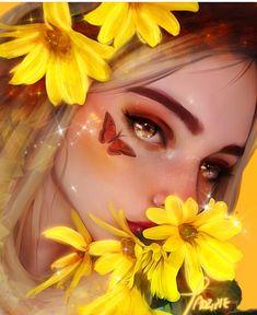 New digital art girl realistic 67 Ideas Digital Art Girl, Digital Portrait, Portrait Art, Cartoon Kunst, Cartoon Art, Beste Tattoo, Anime Art Girl, Aesthetic Art, Cute Drawings