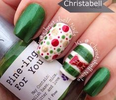 Nail Art, Nail Designs, Unique Nails for the holidays! Holiday Nail Designs, Holiday Nail Art, Winter Nail Art, Christmas Nail Art, Winter Nails, Nail Art Designs, Green Christmas, Christmas Design, Christmas Ideas