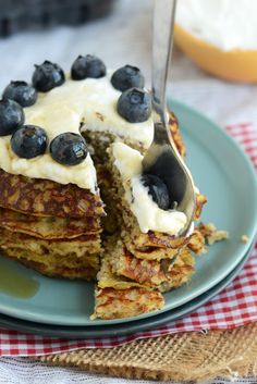 Grain Free Applesauce Pancakes a high protein breakfast that's gluten free, paleo and candida diet friendly
