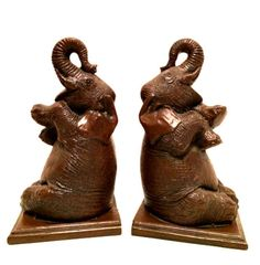 Elephant Bookends by beachcats bargains #Elephants #Bookends