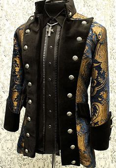 Versailles Coat by Shrine Clothing Goth Mens Jackets