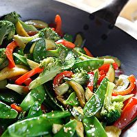 Asian Vegetable Stir Fry Side Dish by christine