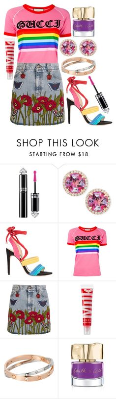 """""""love's gonna lift me up;"""" by nikkiistyles ❤ liked on Polyvore featuring Guerlain, Frederic Sage, Alexandre Birman, Gucci, MILK MAKEUP, Smith & Cult, pride, LoveisLove, equality and lgbtq"""