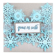 Peace on Earth Card #2 - Winter Wonderland - New Sizzix Releases - Column 1 - Products