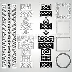 Stock vector of 'Set of Celtic knots, patterns, frameworks. Vector illustration'