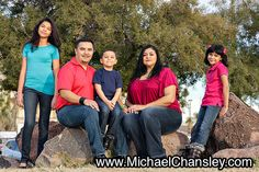 Fun family portrait photo ideas at La Placita Village in Downtown Tucson AZ Arizona taken by Michael Chansley Photography Kids teenagers parents couples teens baby brother sister siblings mom dad father mother