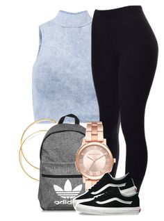 """Sem título #2184"" by isabellacarolina161 ❤ liked on Polyvore featuring Influence, adidas, Michael Kors and Vans"