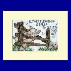 Pig Picture in Cross