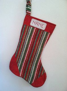 Personalized Quilted Christmas Stockings by CraftyMommy09 on Etsy, $25.00