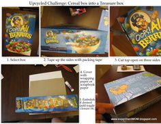 upcycled cereal box to treasure box #freefromtrash www.ExperimentMOM.blogspot.com