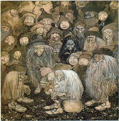 """John Bauer 1909 """"Trollen och Tomtepojken"""" av Alfred Smedberg, """"Bland Tomtar och Troll"""""""