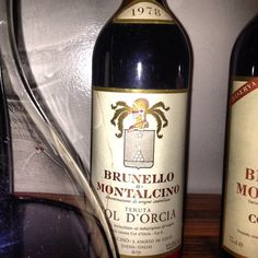 1978 and Paola Tealdi Brunello Di Montalcino, Italian Wine, Wines, The Good Place, Good Things, Bottle, Instagram