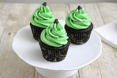 Mint Chocolate Chip Cupcakes by Tracey's Culinary Adventures