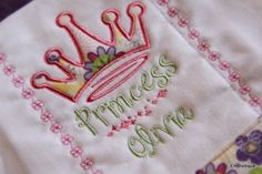 Machine Embroidery applique Design - Princess Crown - in 3 different sizes - 4x4 5x7 and 6x10.