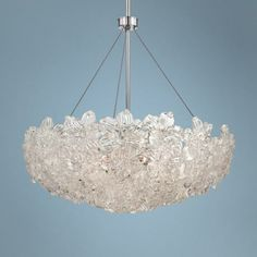 "Metropolitan Bella Fiori 29"" Wide Chrome Bowl Pendant -"