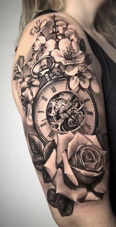 sleeve tattoos, Sleeve Tattoos for women, unique sleeve tattoos, flower sleeve tattoos, black and white sleeve tattoos Quarter Sleeve Tattoos, Tattoos For Women Half Sleeve, Shoulder Tattoos For Women, Best Sleeve Tattoos, Tattoo Sleeve Designs, Tattoo Sleeves, Sleeve Tattoo Women, Women Sleeve, Flower Sleeve Tattoos