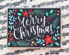 Lettering & Hand Painted Christmas Card + Printables Brush Lettering & Hand Painted Christmas Card + Printables by Kristina Werner.Brush Lettering & Hand Painted Christmas Card + Printables by Kristina Werner. Painted Christmas Cards, Printable Christmas Cards, Christmas Signs, Xmas Cards, Holiday Cards, Christmas Decorations, Christmas Letters, Christmas Quotes, Christmas Paintings On Canvas