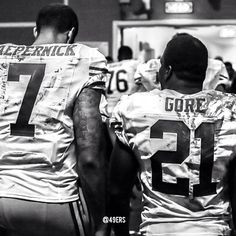 Colin Kaepernick and Frank Gore. Football Is Life, Football Baby, Football Team, Frank Gore, I In Team, Forty Niners, 49ers Fans, Colin Kaepernick, 49ers Kaepernick