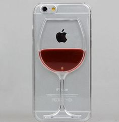 iPhone 6 Plus, 6, 5/5S, 4/4S - Red Wine Glass Clear Case or Cocktails in Assorted Designs - Thumbnail 3