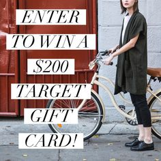 Enter to win in our $ 200 Target Gift Card Giveaway.