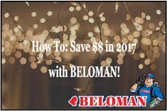If saving money is one of your resolutions for the New Year check out this week's blog: 'How To: Save $$ in 2017 with BELOMAN!' #BELOMAN #Blog