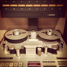 Kickin' it old school with this analog tape machine (Photo by fullsailuniversity)