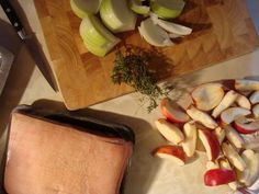 Slow Roast Belly Pork with Apples, Onion & Thyme