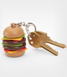 Burger Keychain -- nothing better to keep your keys cozy and happy! #keys #burgers