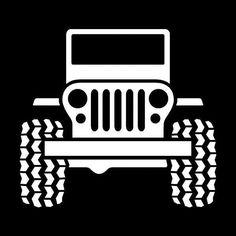 Jeep Wrangler Logo Vinyl Decal Sticker mopar grand cherokee renegade compass 086