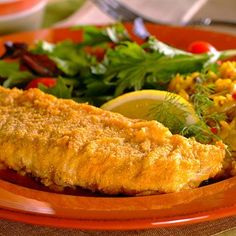 Oven-Fried Fish (Easy; 5 servings) #fish