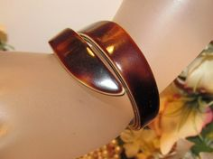 Thick Vintage Retro Root Beer Layered Bypass Lucite Plastic Bangle Wrap Bracelet | eBay