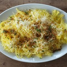Spaghetti Squash with Parmesan & Toasted Garlic Breadcrumbs by Jessica ...