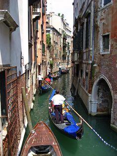 Gondoleri, Venice, Italy, | by Geraldine Curtis