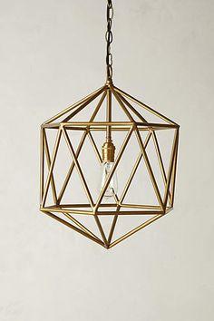 Euclidean Pendant, Faceted Orb - anthropologie.com