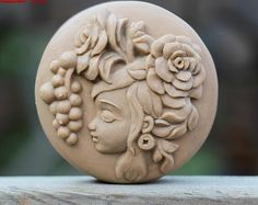 Lovely Forest Girl Soap Mold Flexible Silicone Mold by diycakemold